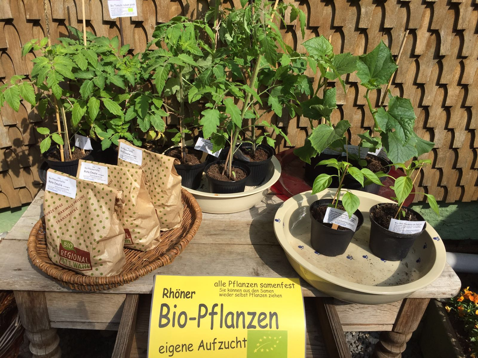 Biopflanzen aus eigenem Anbau
